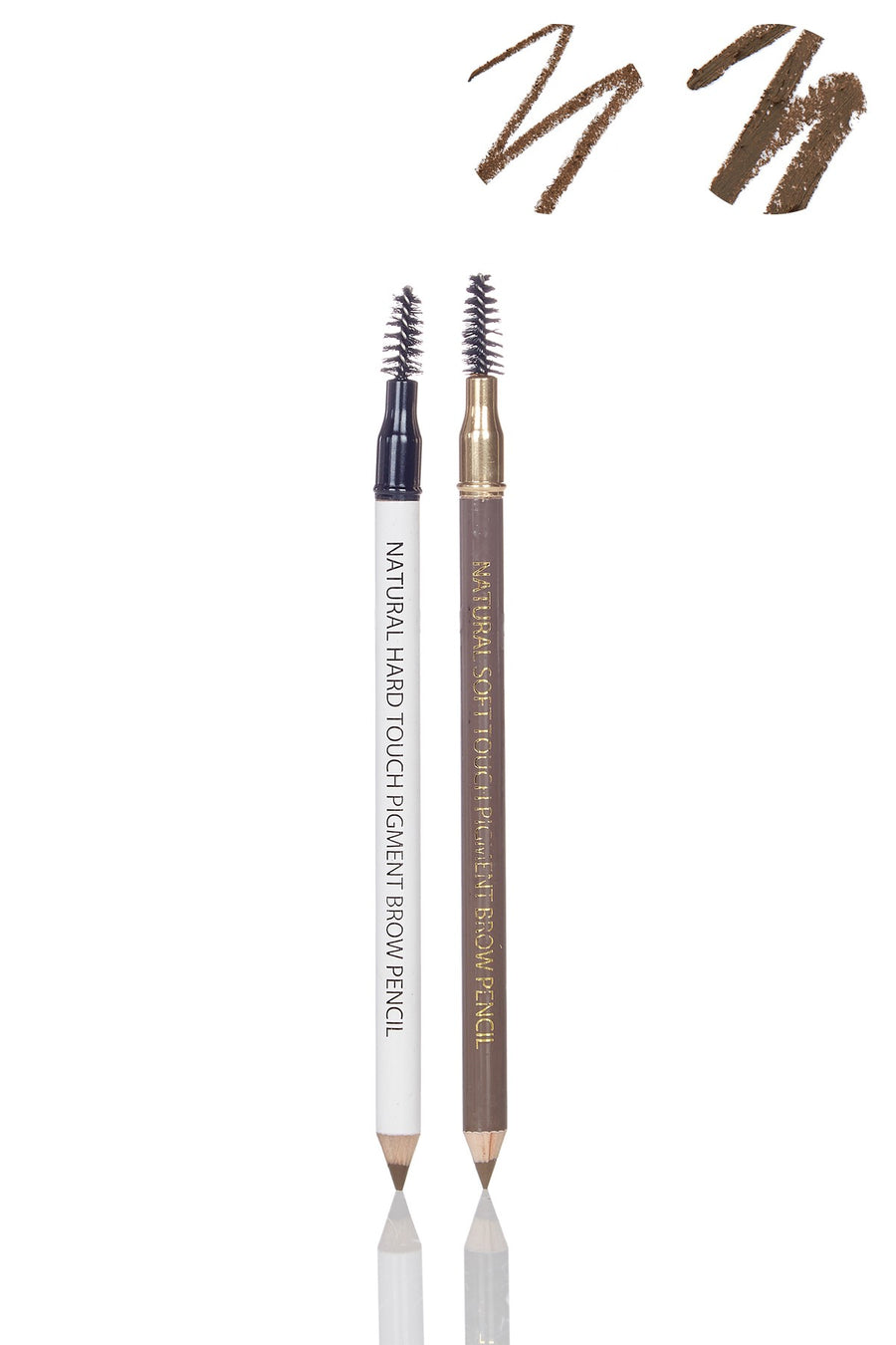 Universal Brow Definer - Set of Soft Touch & Hard Touch Universal Formula Professional Eyebrow Pencils - Blend Mineral Cosmetics