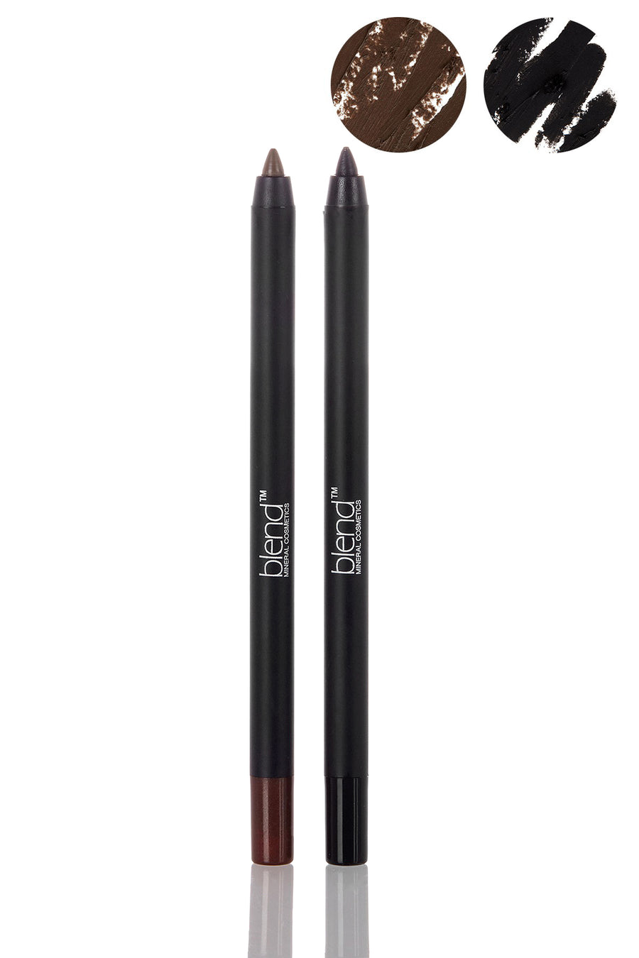 Waterproof Pencil Set - Black & Taupe - Blend Mineral Cosmetics