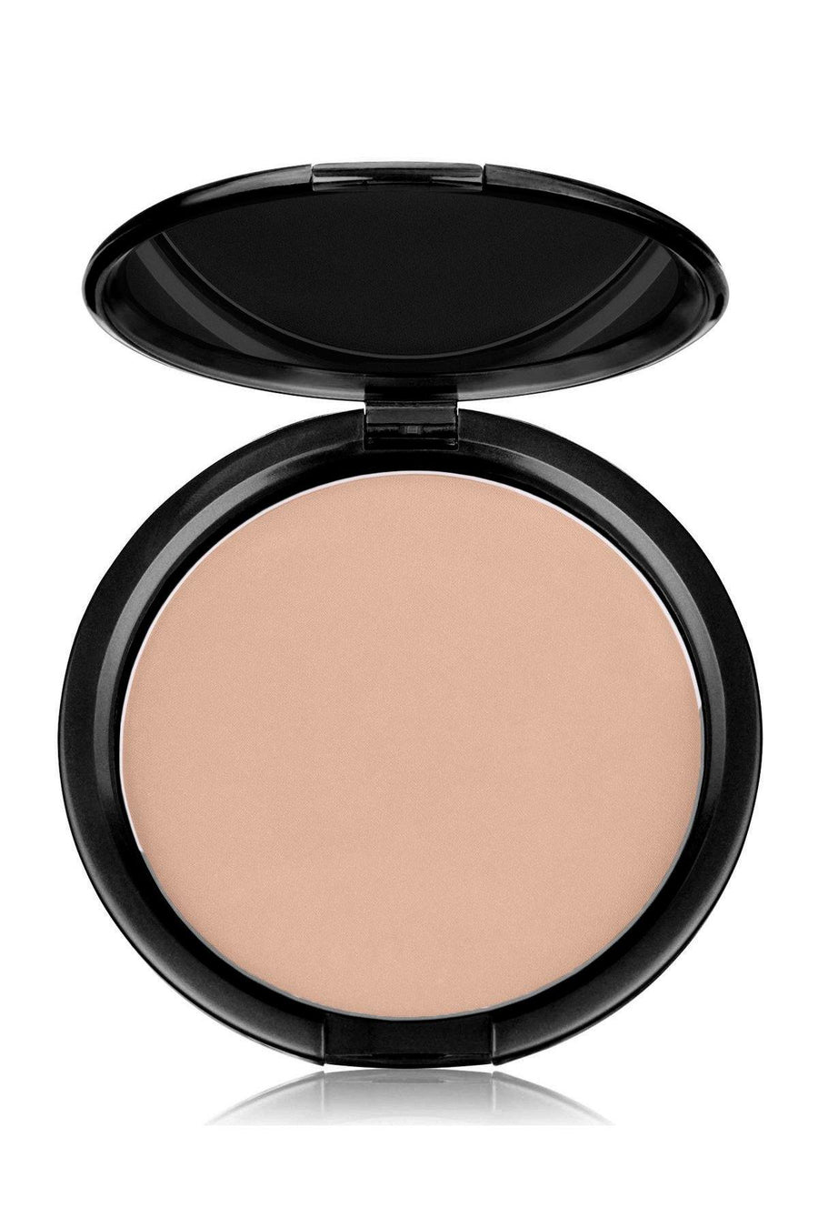 Foundation Pink Tone Light Mineral Pressed Powder & Brush - Blend Mineral Cosmetics