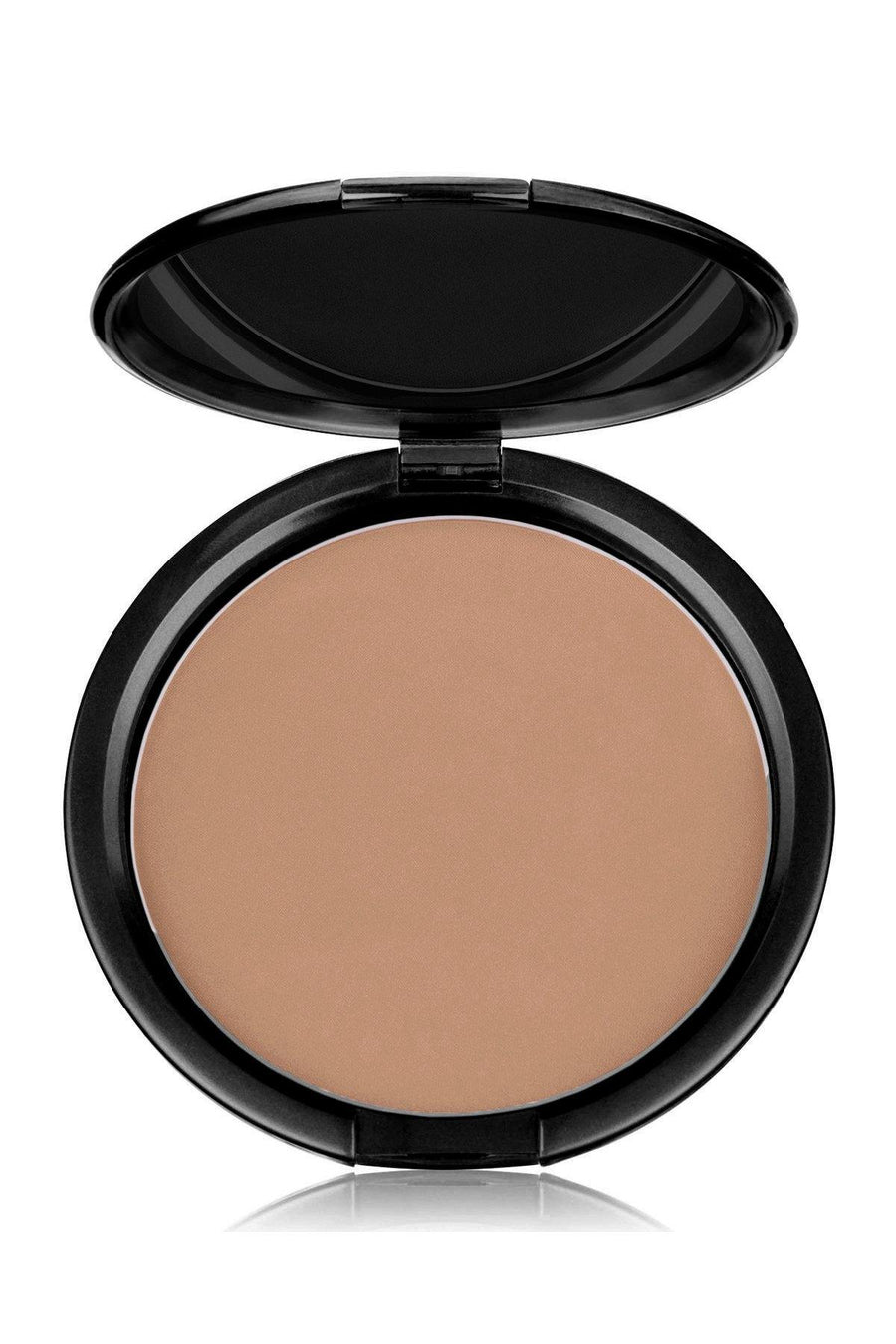 Foundation Pink Tone Dark Mineral Pressed Powder & Brush - Blend Mineral Cosmetics