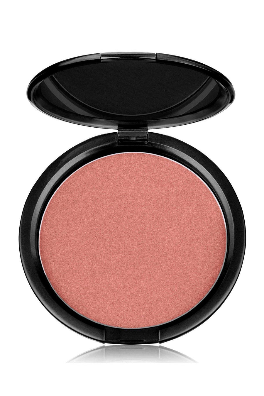 Blush Mineral Pressed Powder & Brush Set - Pink Brown Tone - Blend Mineral Cosmetics