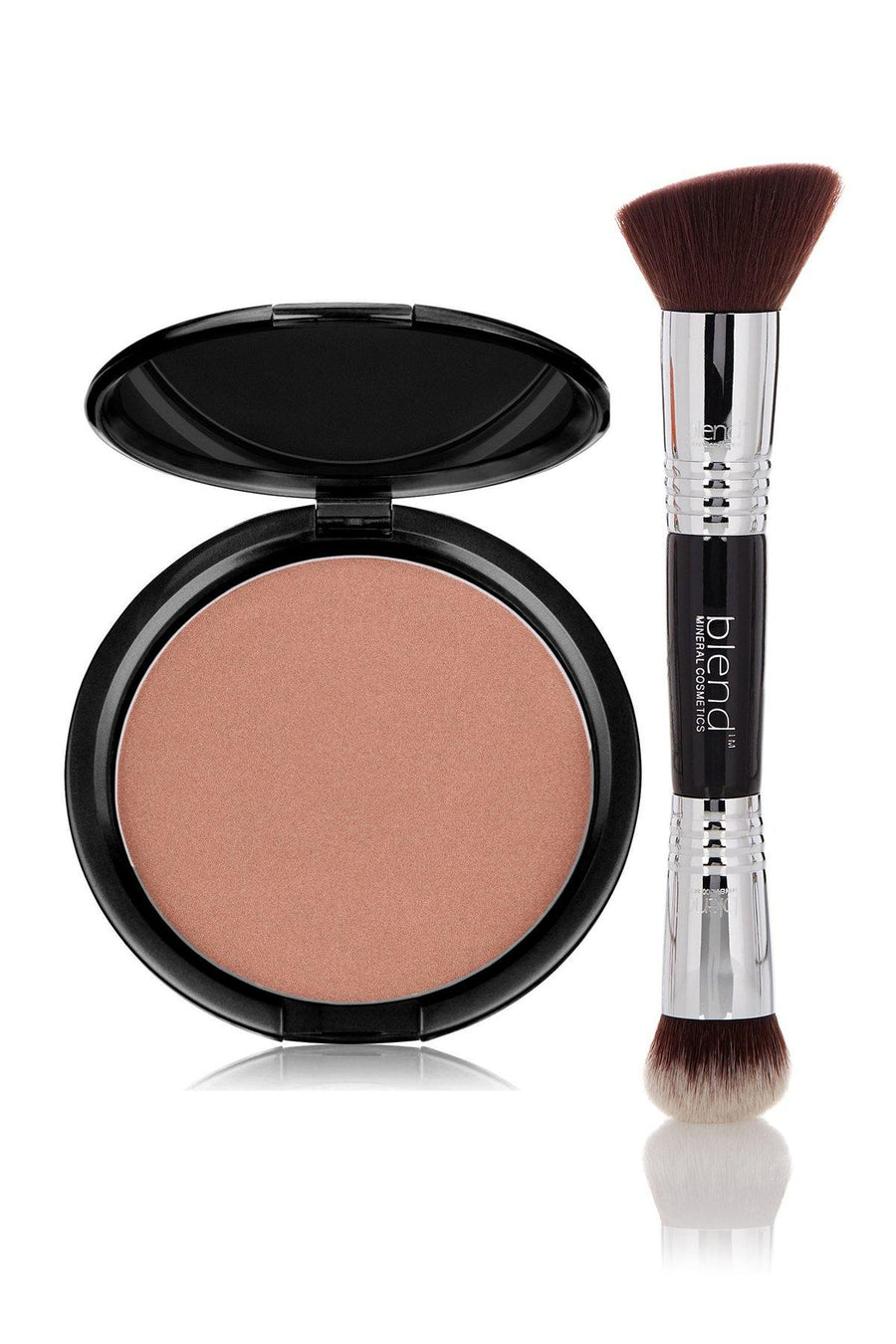 Bronzer Mineral Pressed Powder & Brush Set - Terracotta - Blend Mineral Cosmetics