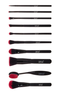 Super Professional Makeup Artist Complete 11-Piece Brush Kit - Pink