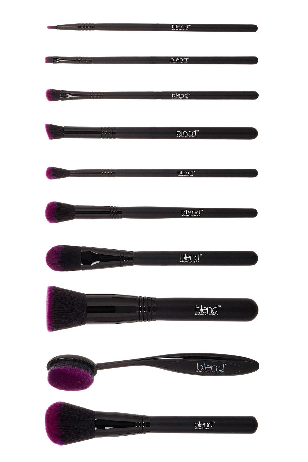 Super Professional Makeup Artist Complete 11-Piece Brush Kit - Purple