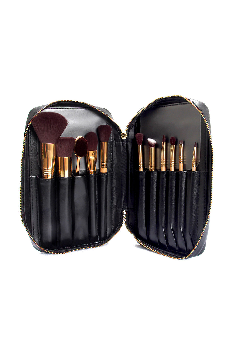 Professional Makeup Artist Complete 11-Piece Brush Kit - Bamboo - Blend Mineral Cosmetics
