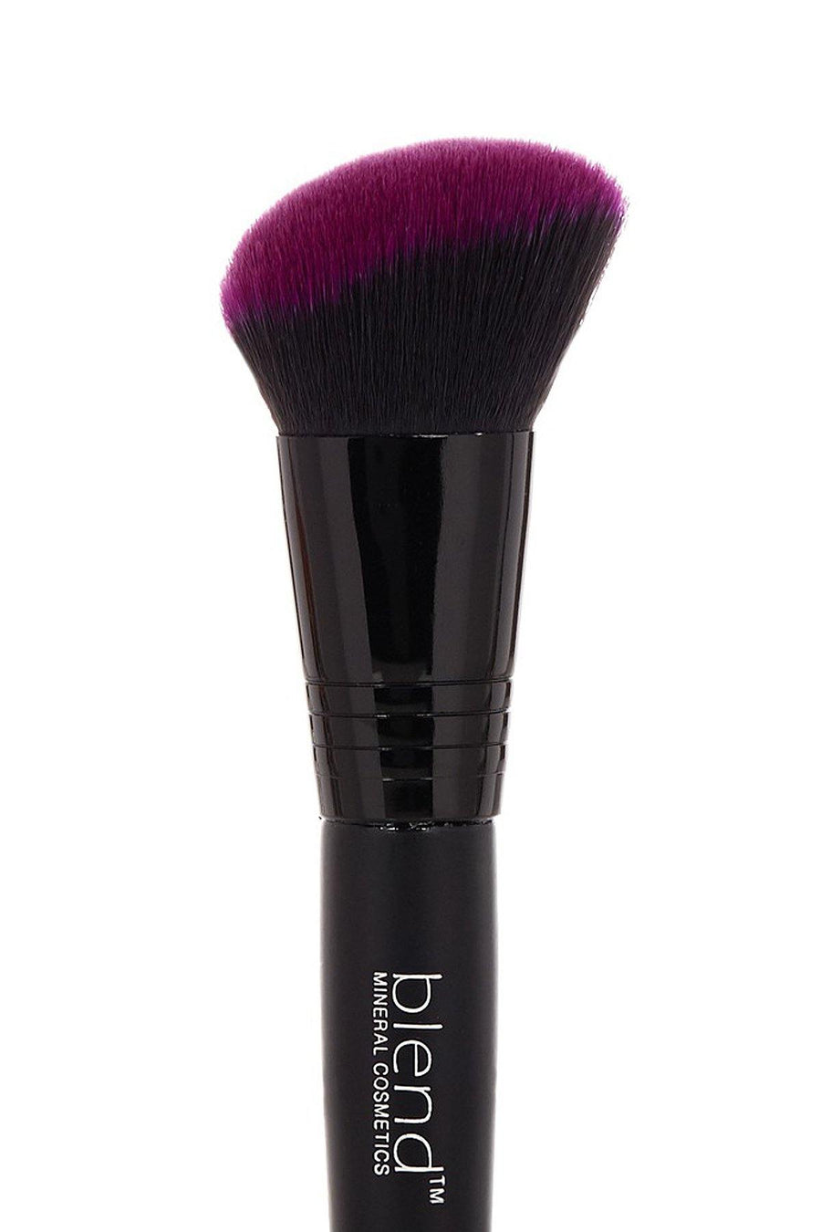 Angle Double Ended Brush - Purple - Blend Mineral Cosmetics