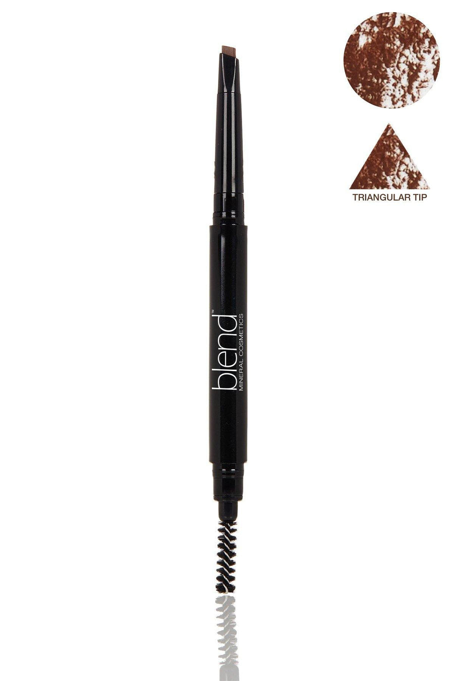 Defined Long-Wear Brow Pencil & Attached Spooly Brush - Universal Dark Warm - Blend Mineral Cosmetics