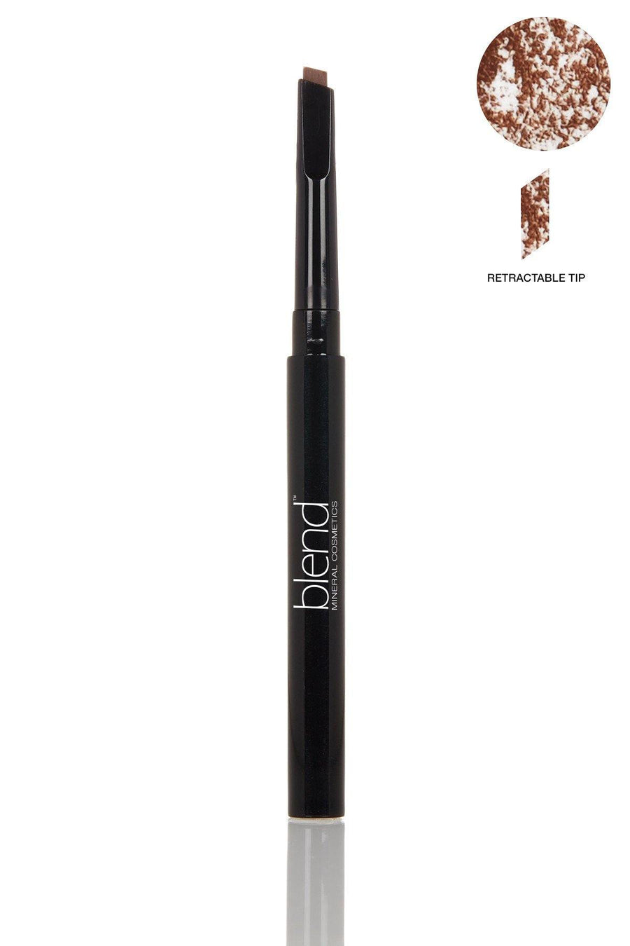 Defined Long-Wear Brow Pencil - Universal Dark Warm - Blend Mineral Cosmetics