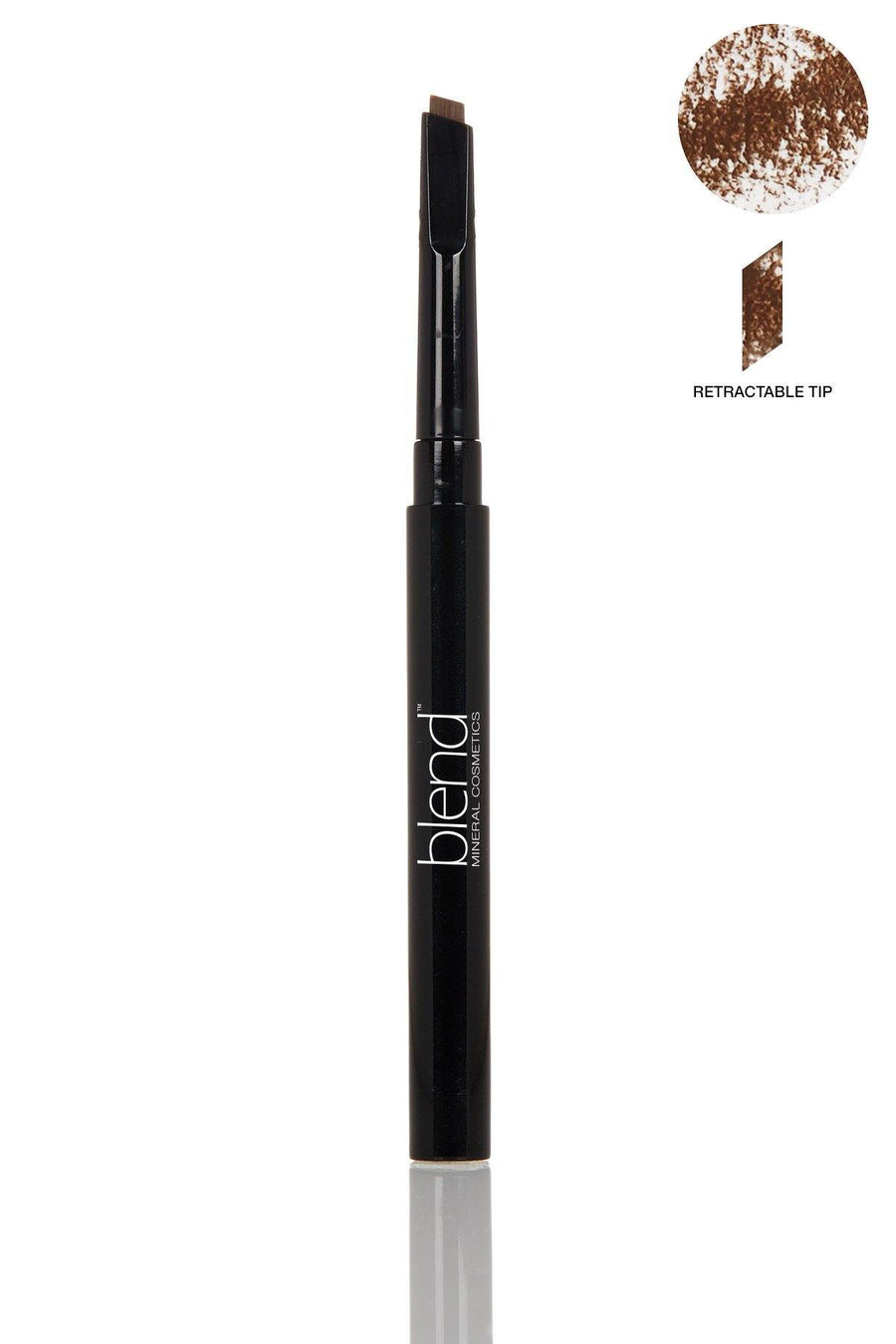 Defined Long-Wear Brow Pencil- Universal Medium Warm - Blend Mineral Cosmetics
