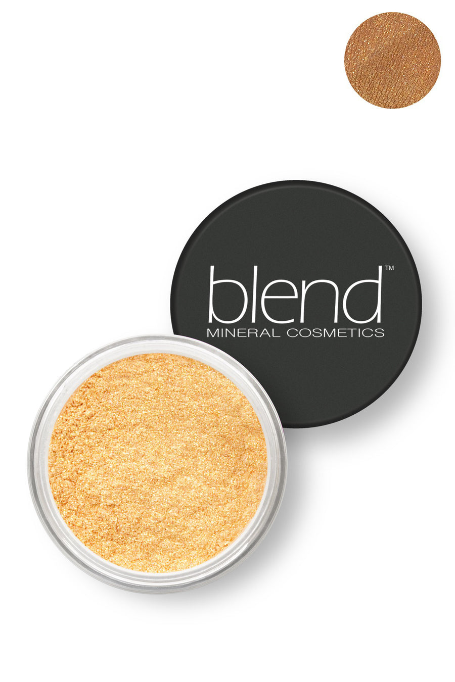 Pure Pigment Eyeshadow - Bright Gold - Blend Mineral Cosmetics
