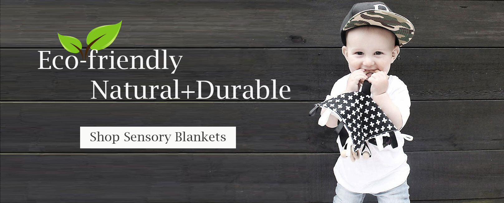 Sensory blanket baby toys that have loads of ribbon tags and wooden activities