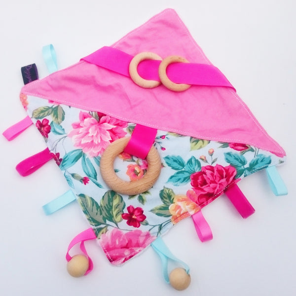 Summer Floral Blue Cube & Blanket Activity Set