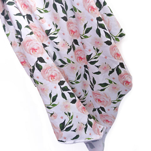 Garden Rose Baby Wrap swaddle blanket