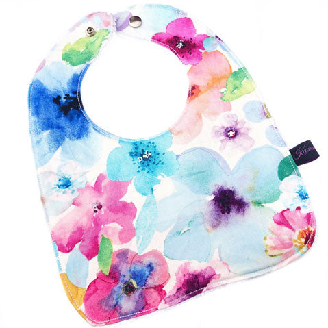 Floral breeze newborn baby feeding bib