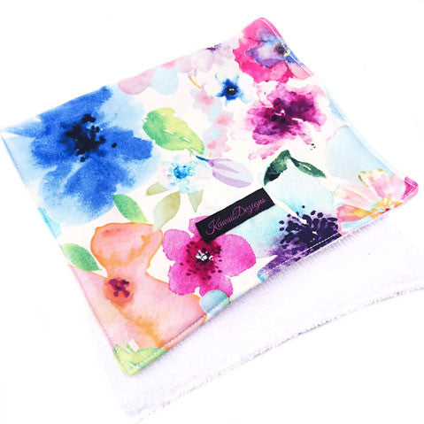 Floral breeze baby burping cloths