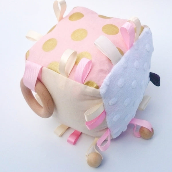 Pink & Gold Cognitive Cube educational toy
