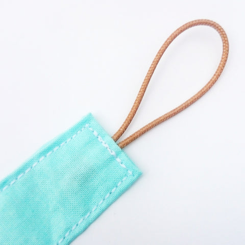 Mint green wooden dummy clip