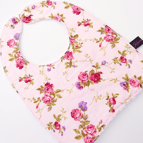 Pink Floral baby and toddler Bib