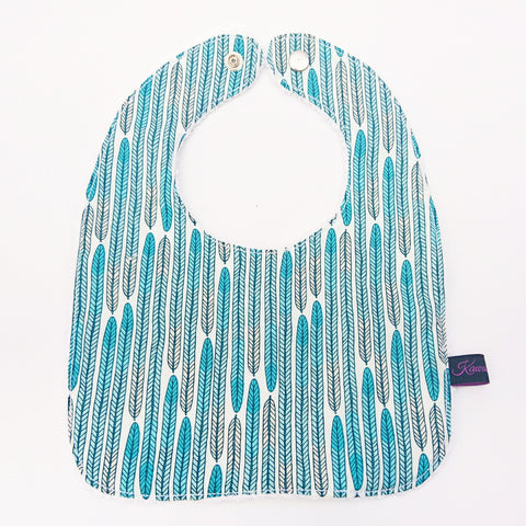 Mint Feather ombre baby and toddler bib