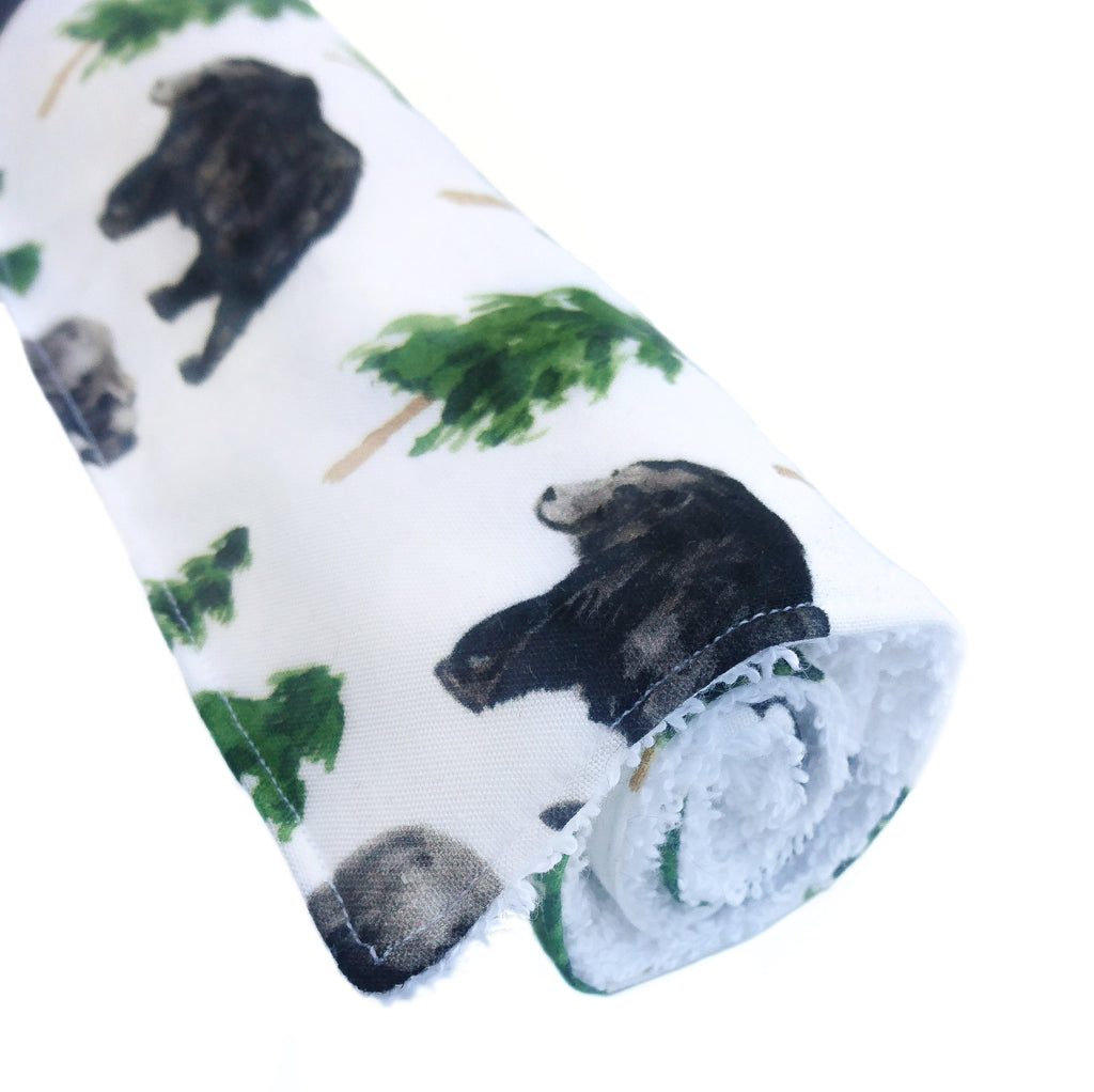 Grizzly Bear Burp Cloth