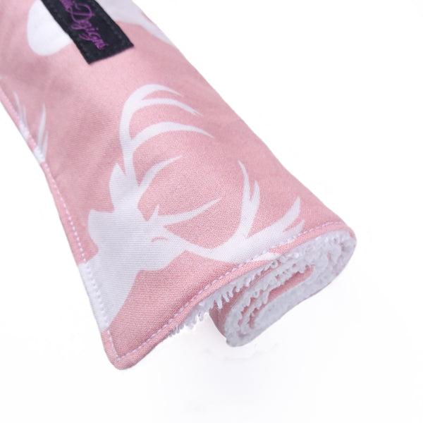 Baby Pink deer head large and absorbent burp cloth