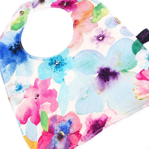 Floral breeze baby girl bib