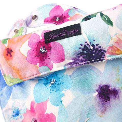 Floral breeze baby burp cloth and bib gift set