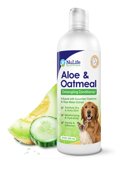 Aloe & Oatmeal Dog Conditioner For Matted Hair 16oz