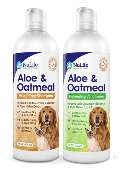 Aloe & Oatmeal Shampoo & Conditioner Bundle - 16oz