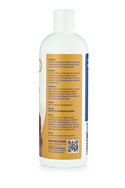 oatmeal and aloe shampoo for dogs 16oz