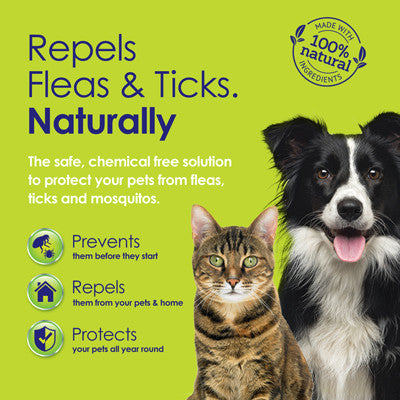 Flea & Tick Natural Repellent Twin