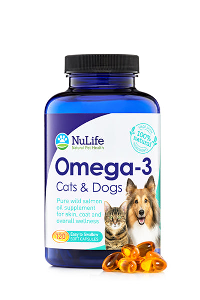 Omega 3 Fish Oil For Cats & Dogs, 120 Capsules (500mg)