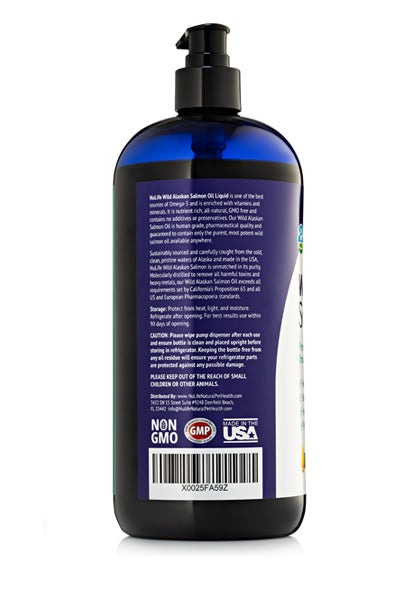Wild Alaskan Salmon Oil for Dogs Liquid 32 oz