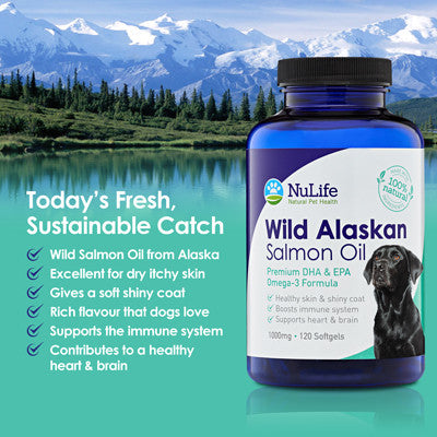 Salmon Oil Pills For Dogs 120 Capsules