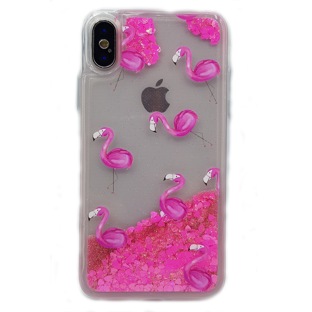 Flamingo | Beautiful Glitter Protection Case for iPhone 7/8/X/ Plus/ Samsung S9 / S9Plus