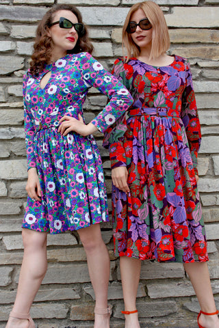 Vintage summer 60's floral dresses - Shop SoLovesVintage