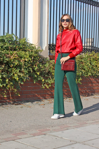 Shop vintage wool green trousers online - SoLovesVintage