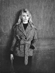 Brigitte Bardot vintage photo in a wool jacket - SoLovesVintage