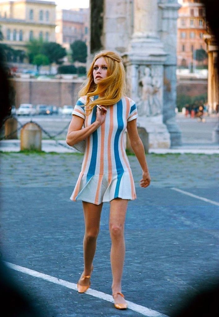 Brigitte Bardot in a vintage mini dress