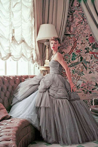 1950's vintage prom dresses by Christian Dior
