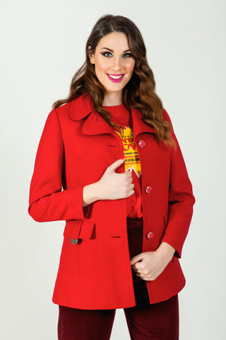 Shop 60's vintage red jacket online - SoLovesVintage
