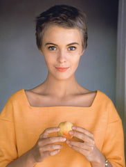 Jean Seberg in her pixie hair cut