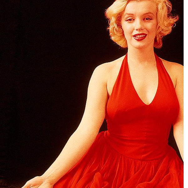 Marilyn Monroe in a red vintage dress