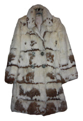 Real fur coat in white and brown - Shop at SoLovesVintage
