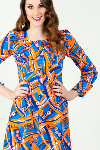 60's fashion print dress now online - SoLovesvintage