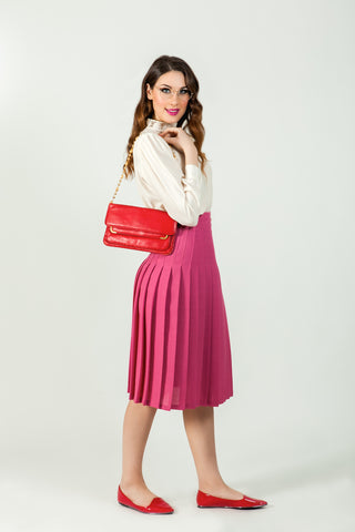 Shop vintage pink wool skirt online - SoLovesVintage
