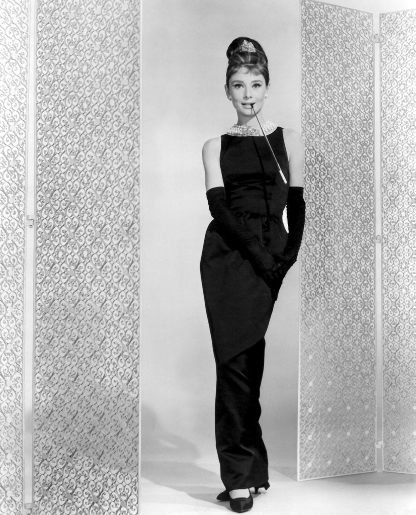 Audrey Hepburn in Givenchy black dress for Holly Golightlys role