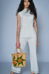 Shop this white vintage trouser suit - SoLovesVintage
