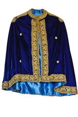 Blue velvet vintage cape from SoLovesvintage