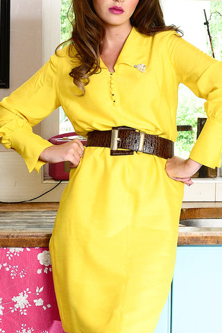 Vintage yellow neon dress now online - Shop at SoLovesVintage